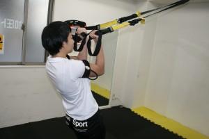 加圧トレーニング 上肢(TRX利用)