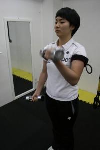 加圧トレーニング 上肢(ダンベル)